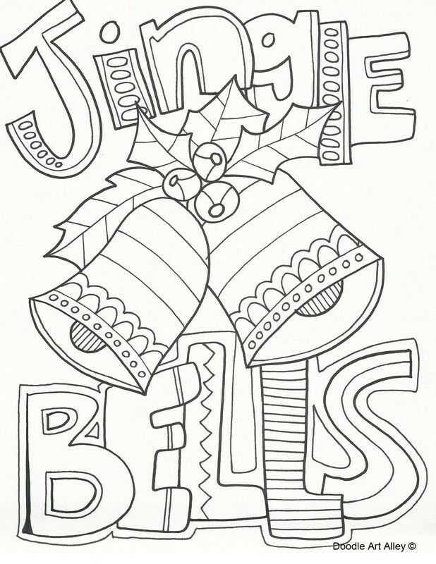 Jingle bells coloring page | Music | Pinterest | Christmas coloring ...