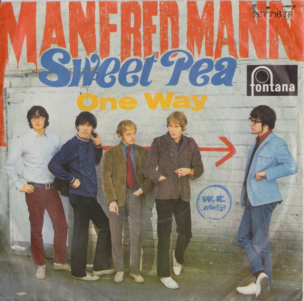 Manfred Mann Sweet Pea 1967 German Issue Rare 7 45 Vinyl Record 60s 267716tf Bluesrockbritishinvasionrocknroll
