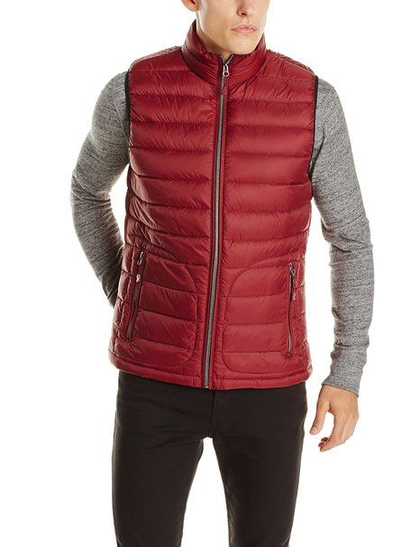 Buffalo by David Bitton Men's Quilted Puffer Vest, Syrah, Small ...