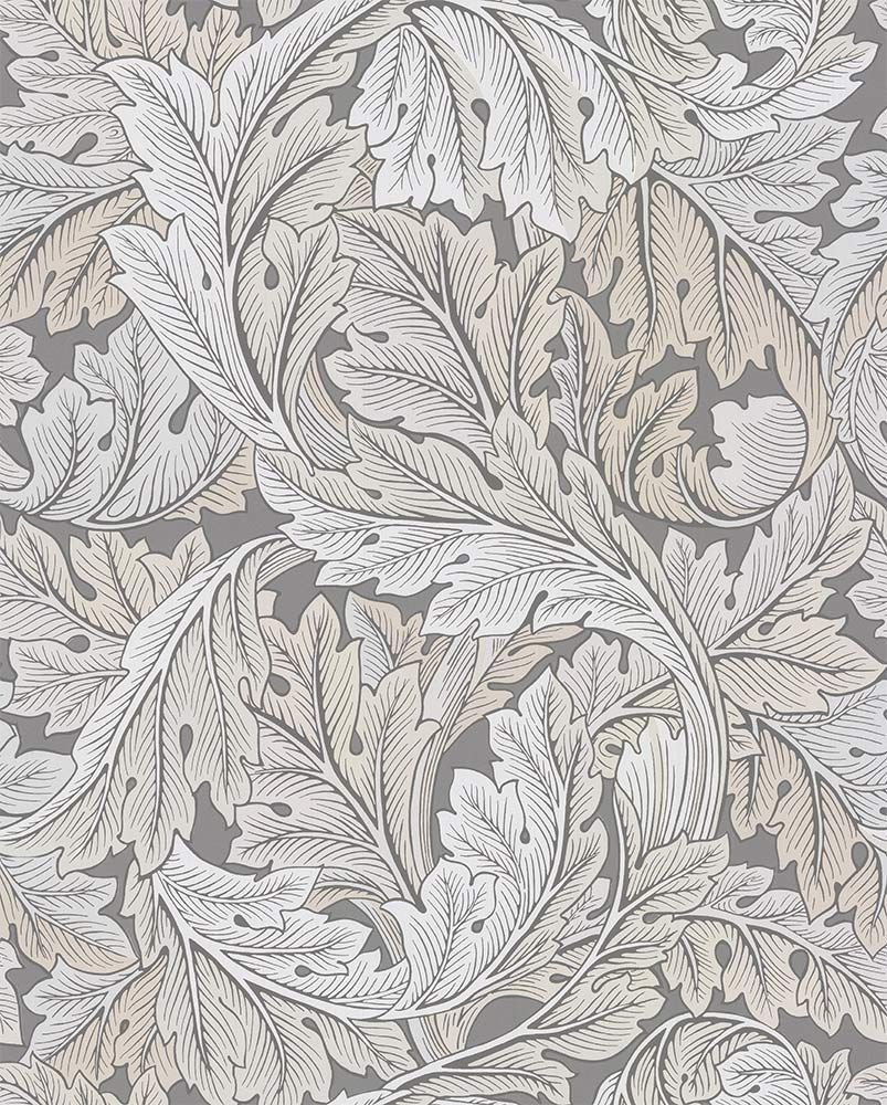 Acanthus by Morris Slate / Pewter Wallpaper 216740