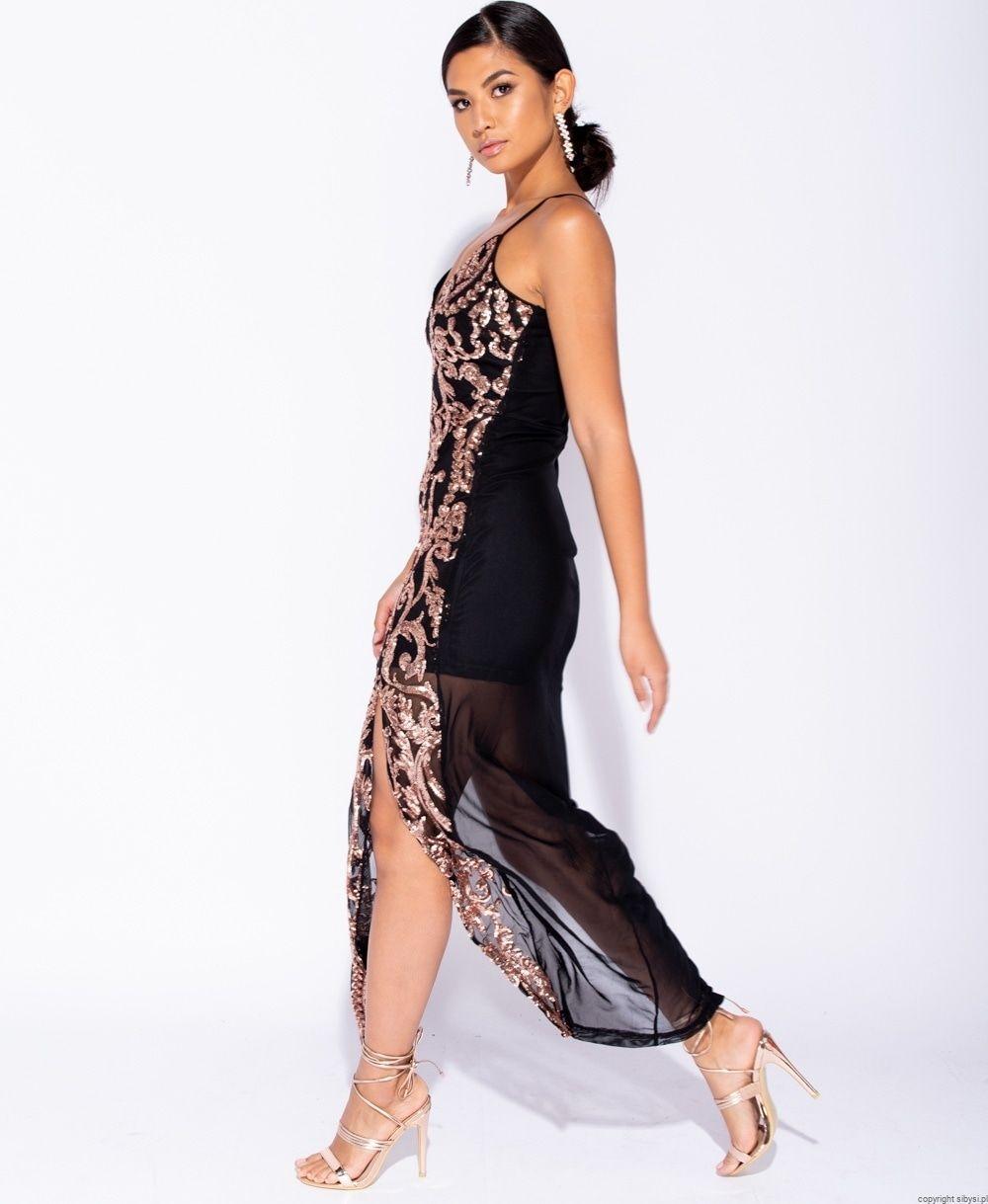 9e90faf5fdb206 Sukienka długa, elegancka Baroque ost 34 | Sukienki na wesele ...