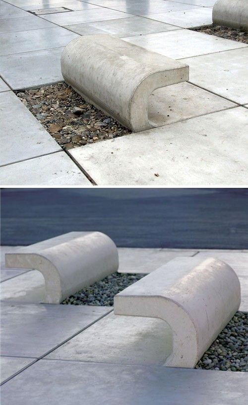 Benches in Riva promenade of Croatian city Split. Torn from the concrete by 3LHD Architects.