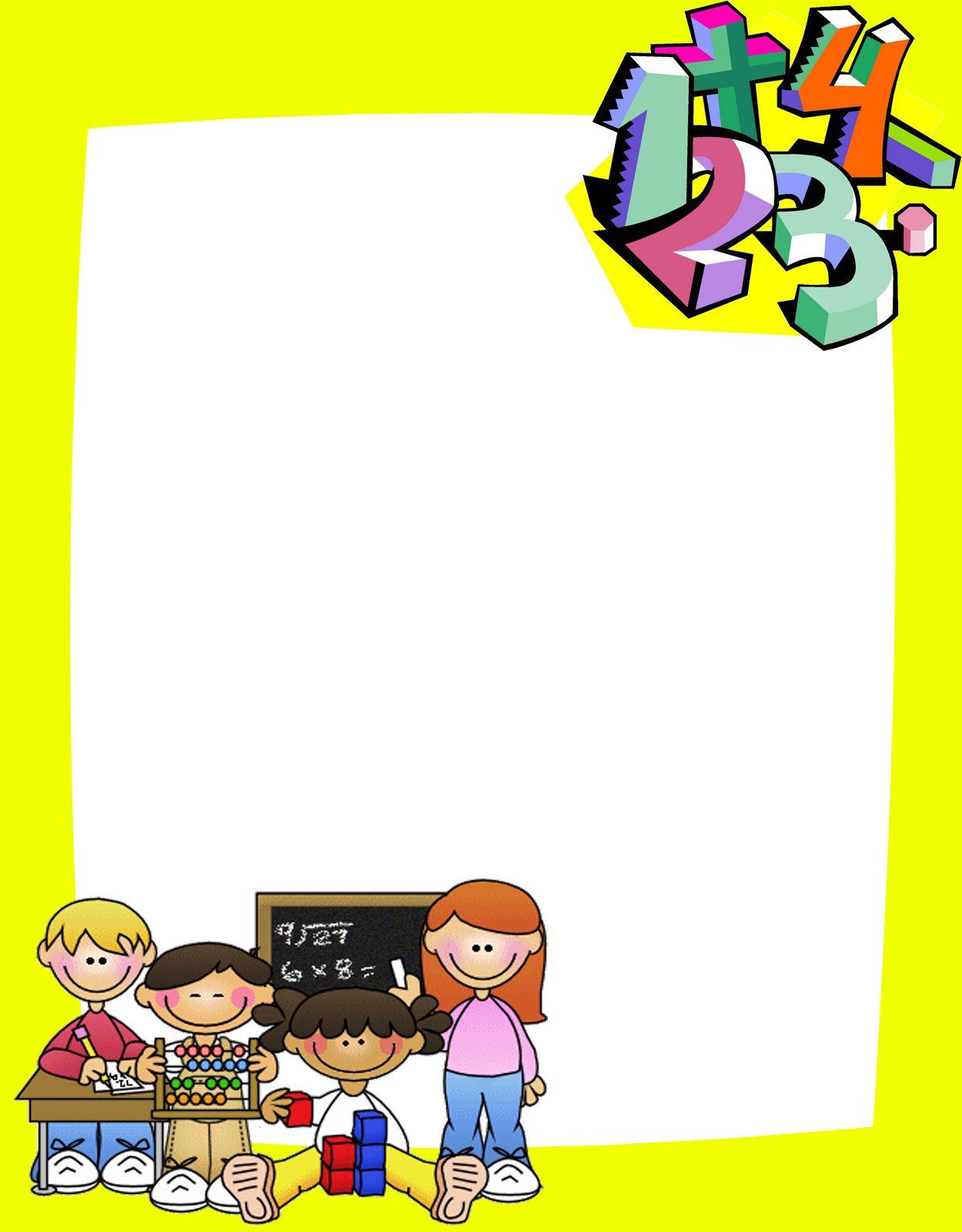 Caratulas-para-matemáticas.jpg (1250×1600)   Bordes, Marcos y ...