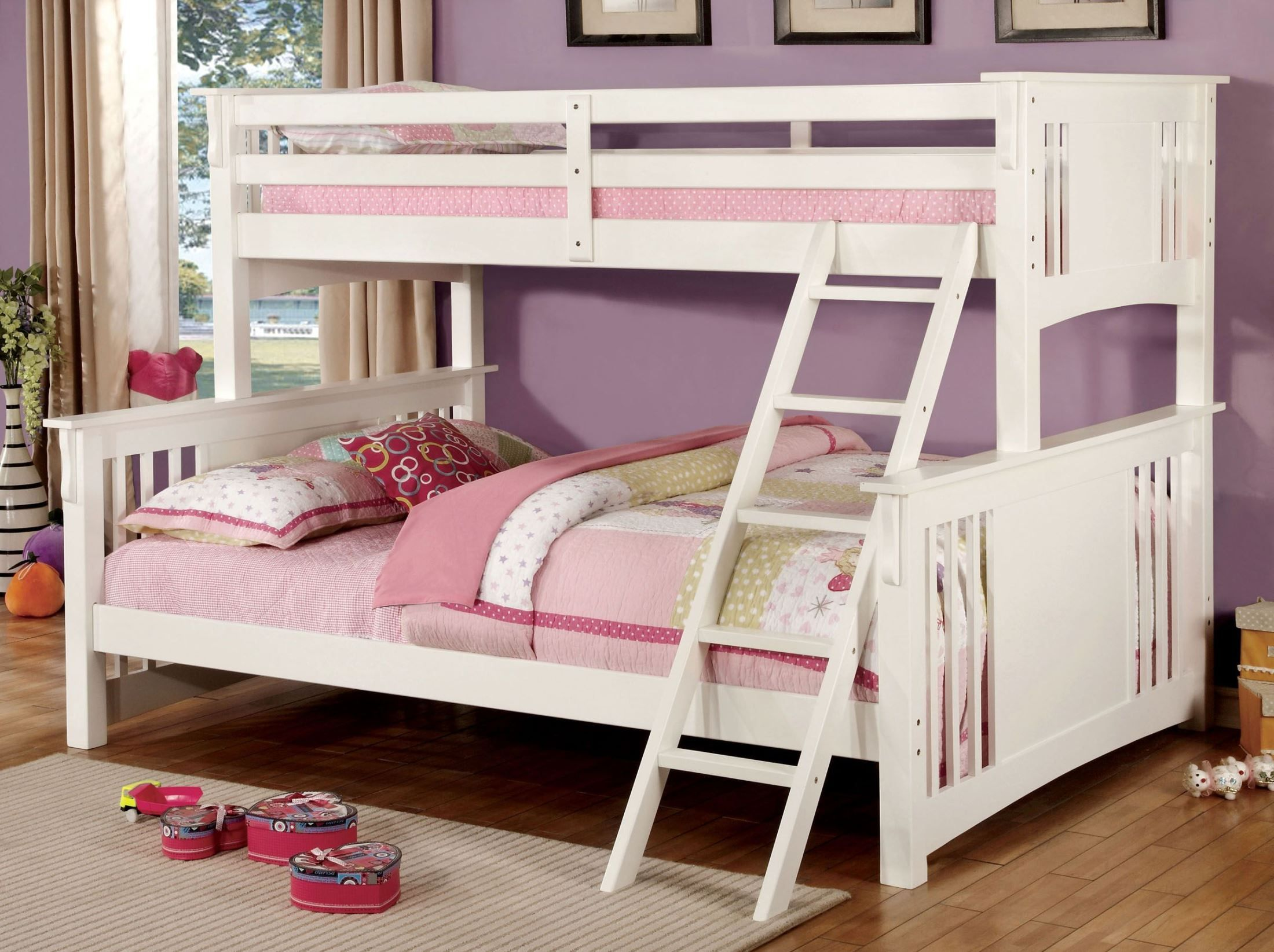 Spring Creek White Twin Extra Large Twin Over Queen Bunk