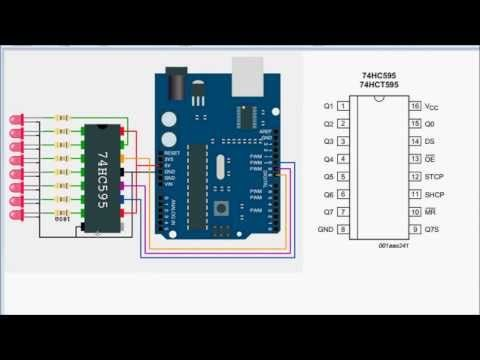 PWM with shift registers for Arduino: ShiftPWM example 1 - YouTube
