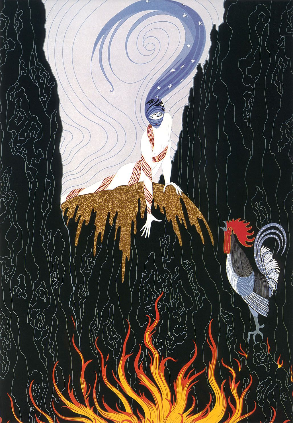 The French Rooster - Erte