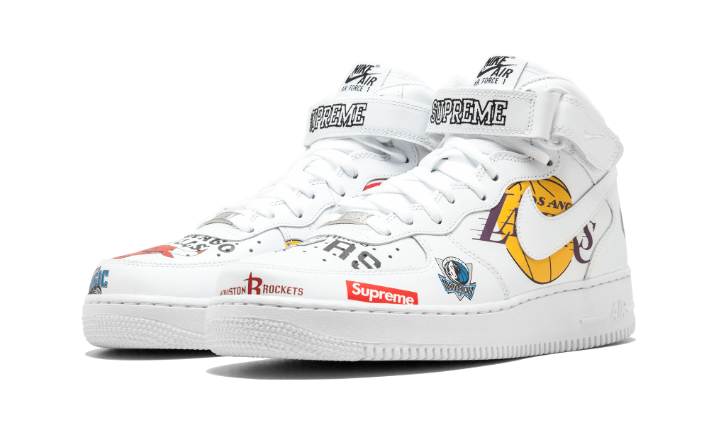 Supreme x NBA x Nike Air Force 1 Mid 07 White AQ8017 100