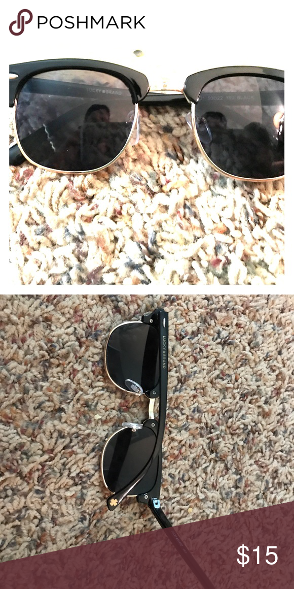 e9a45eaf646 Lucky Brand sunglasses Lucky Brand black sunglasses with gold rims in like  new perfect condition. Lucky Brand Accessories Sunglasses