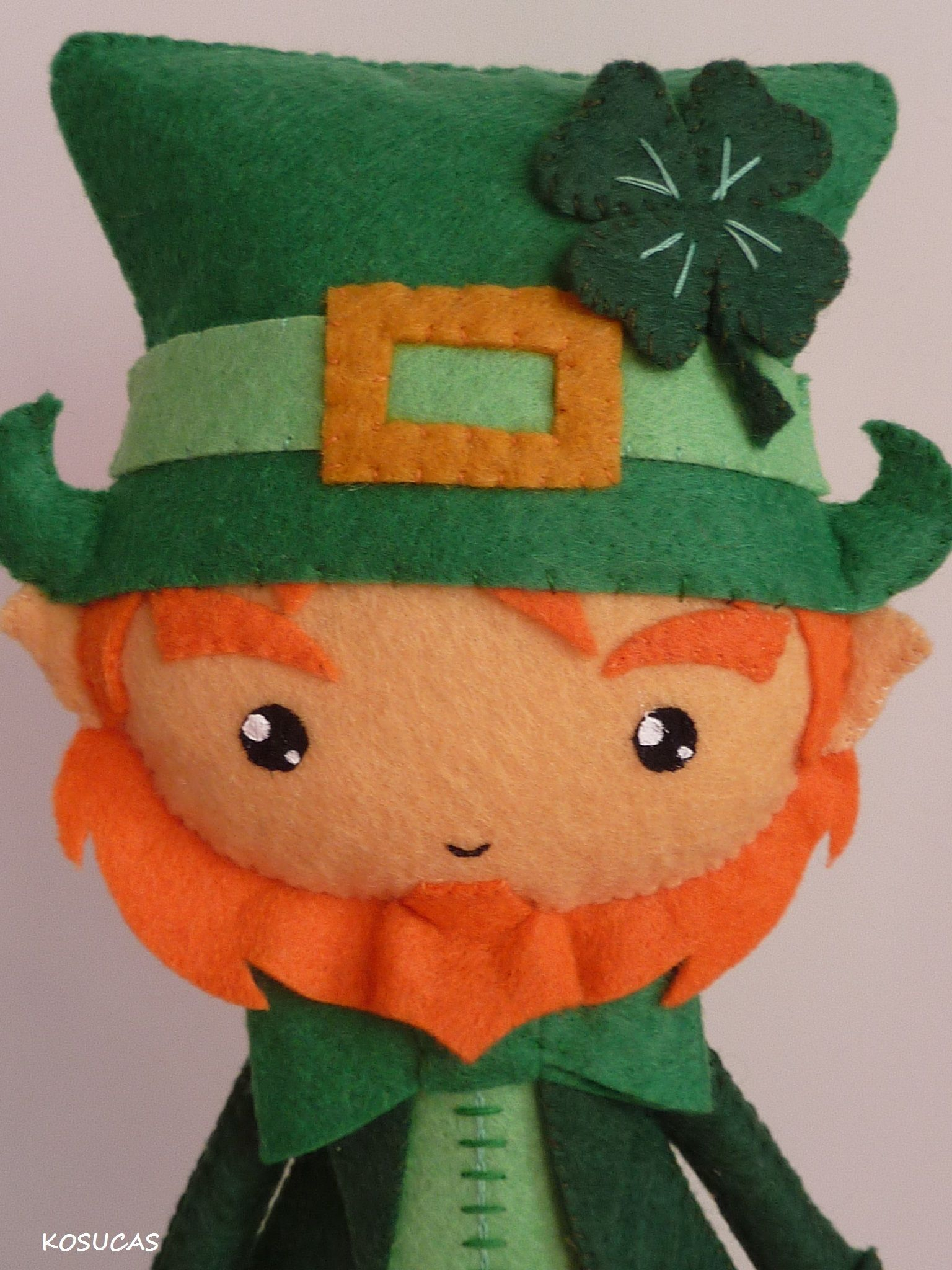 Felt Leprechaun | St. Patty\'s Day | Pinterest
