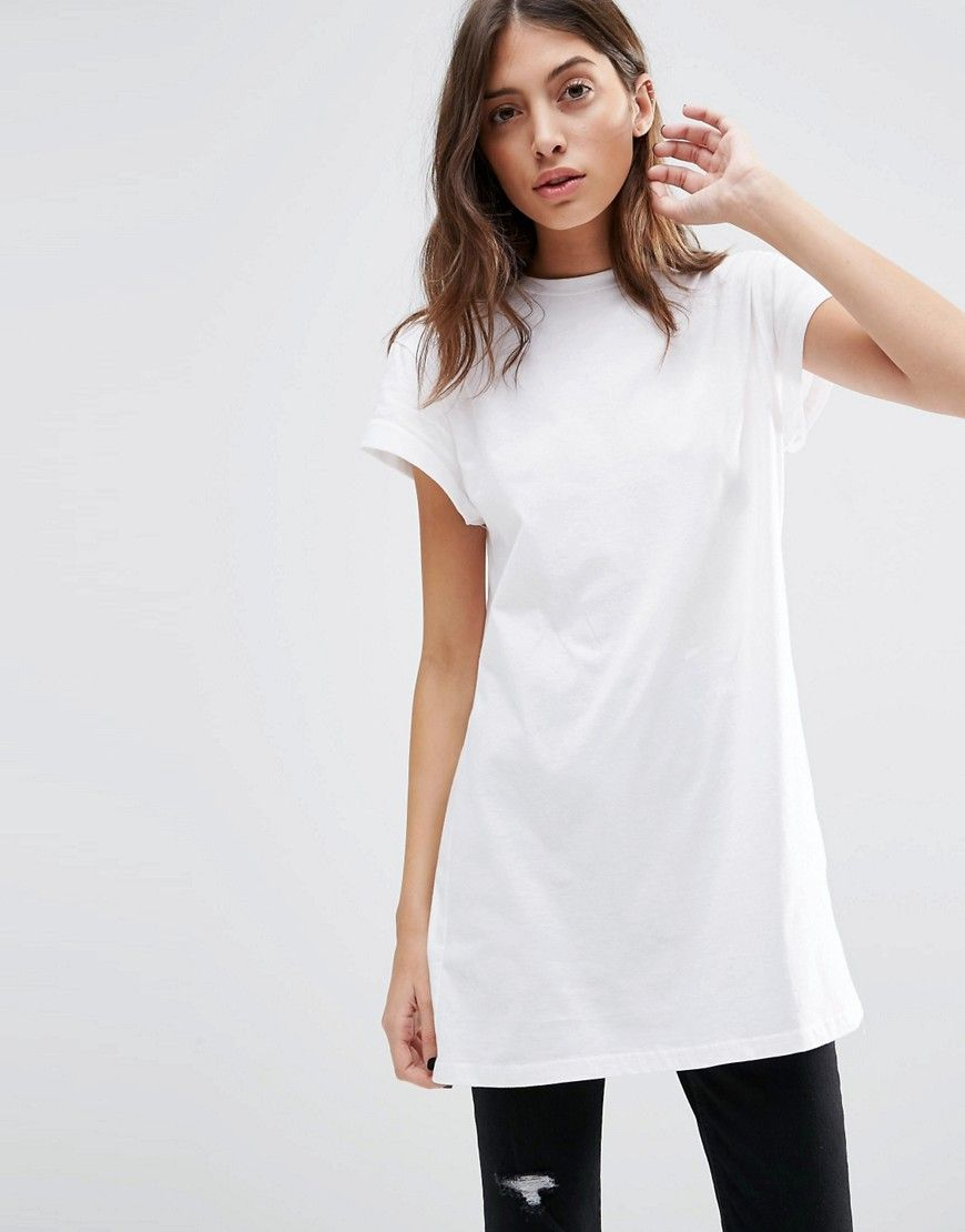 Image of asos the ultimate easy longline tshirt womenus t