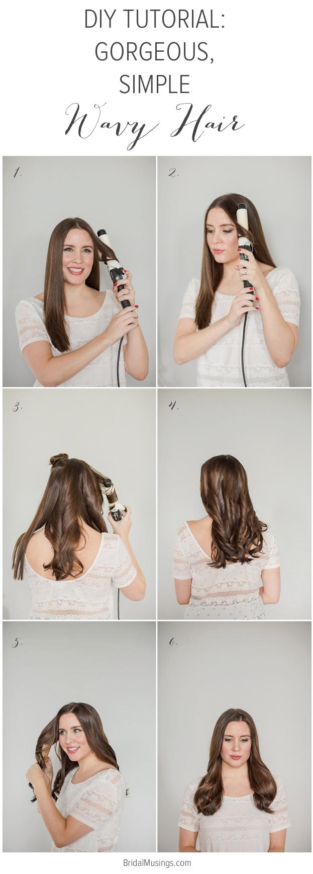 Diy Tutorial Gorgeously Simple Wavy Hair Medium Length Hair Styles Medium Length Hair With Layers Diy Hairstyles