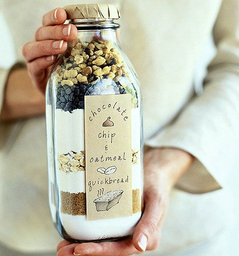 Quick Bread in a Bottle or Jar.  I bet a large Starbucks drink bottle would work too!