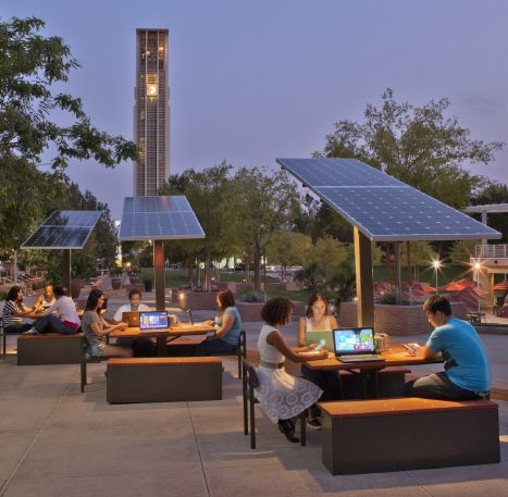 Solar Charging Stations Landscape Architects Connectable Campus Landscape Architecture Campus Landscape Architecture