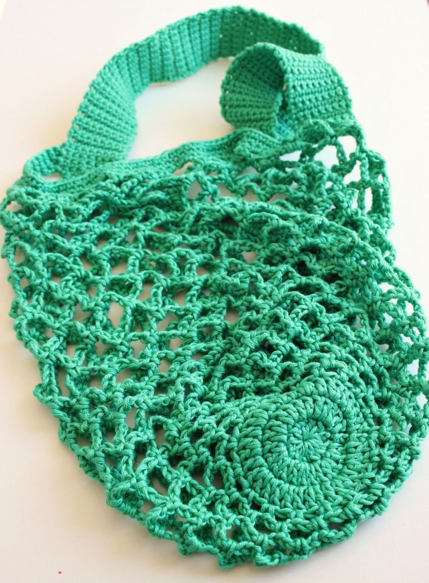 A One Skein Crochet Mesh Bag. Free pattern. | Patrón de ganchillo ...