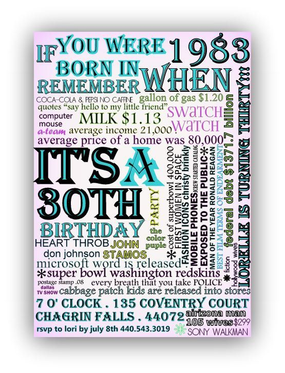 what year were you born in birthday invitation party 21st 30th - how to make a birthday invitation on microsoft word