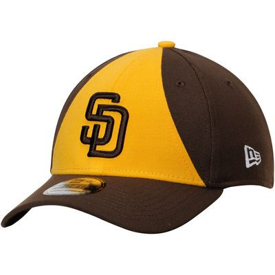 size 40 7df7f f9ffd Men s New Era Gold Brown San Diego Padres Team Classic 39THIRTY Flex Hat