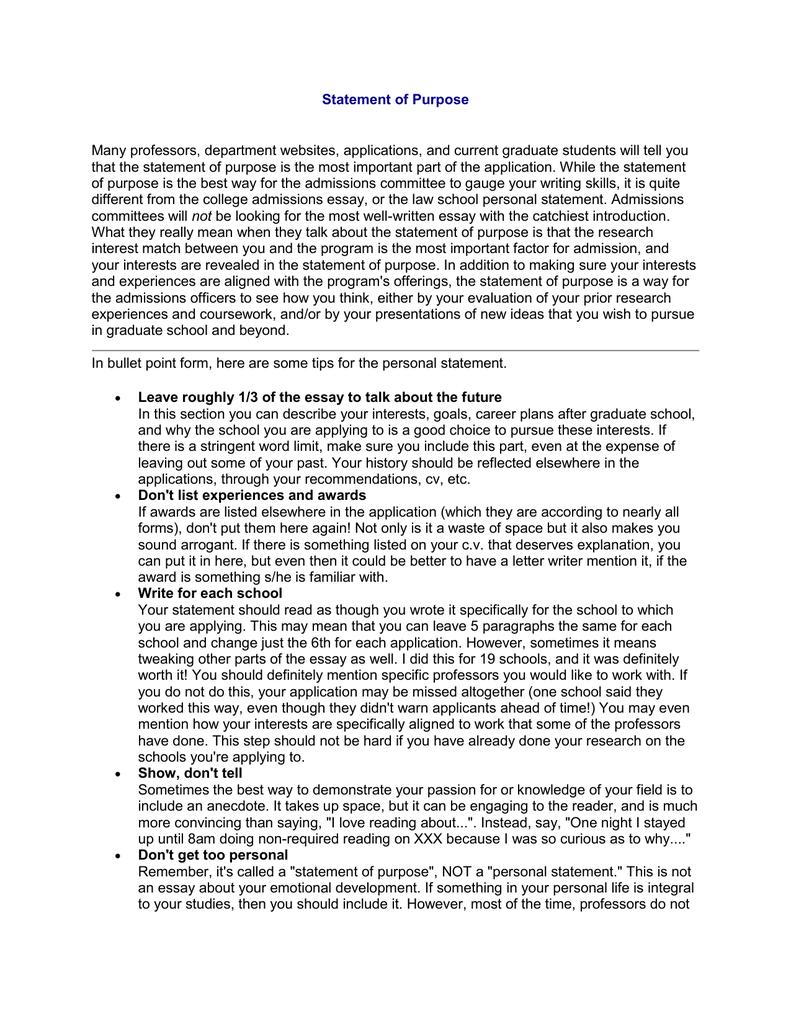 Economics personal statement