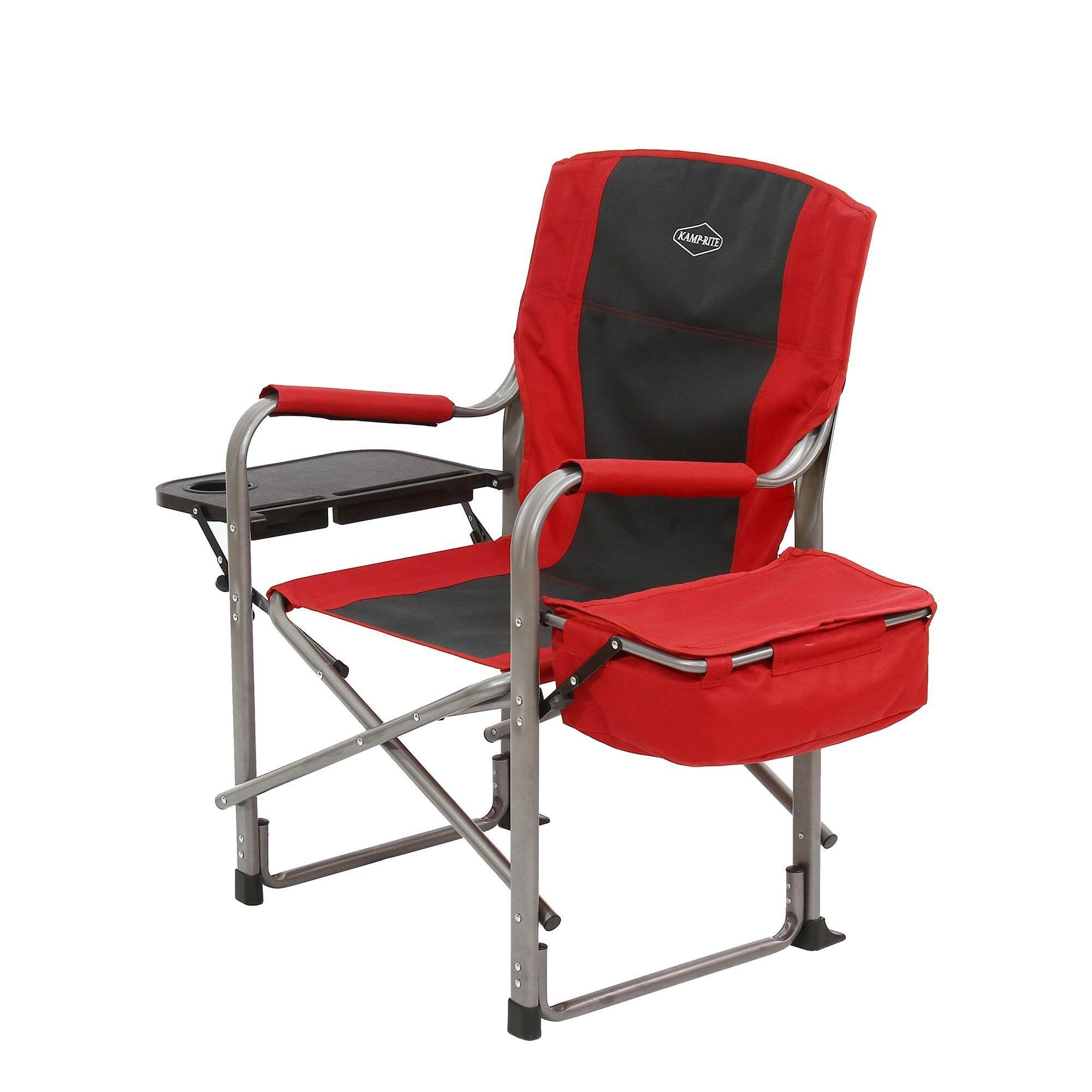KampRite Outdoor Camp Folding Director's Chair with Side