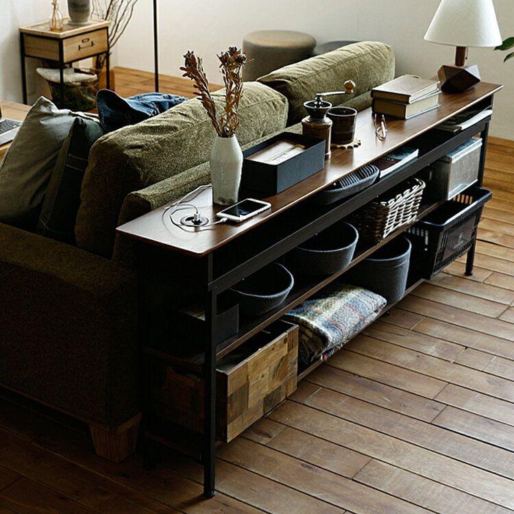 ソファの後ろに置くとラックやテーブルになるコストパフォーマンス抜群のキャビネット ソファ 後ろ インテリア 家具 模様替え