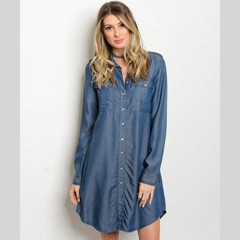 Our jamie chambray shirt dress is both comfortable and good looking
