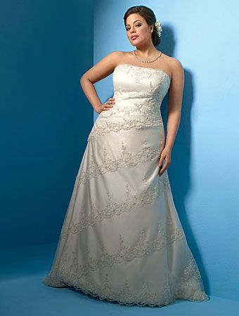 Alfred Angelo Plus Size Wedding Gowns 2500 Dress Including Y