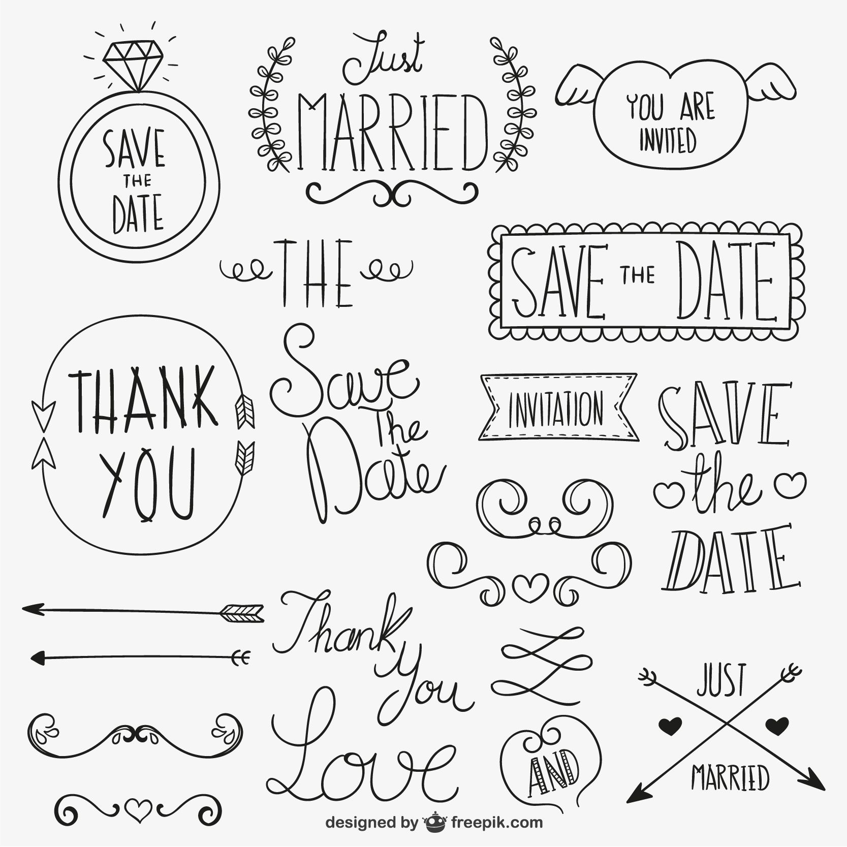 Letters, fonts and doodle ideas | *All Things Art + Hand