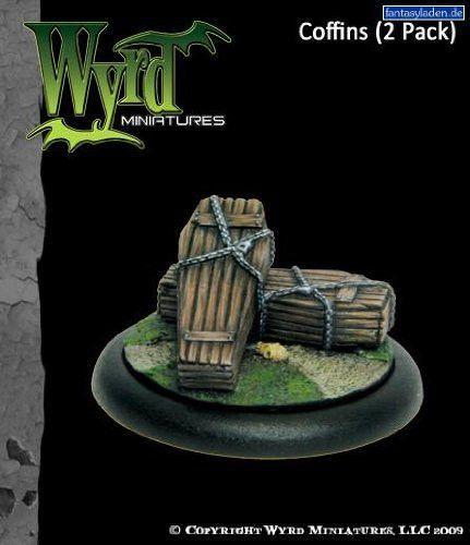 Malifaux Miniatures Coffins by Wyrd Miniatures