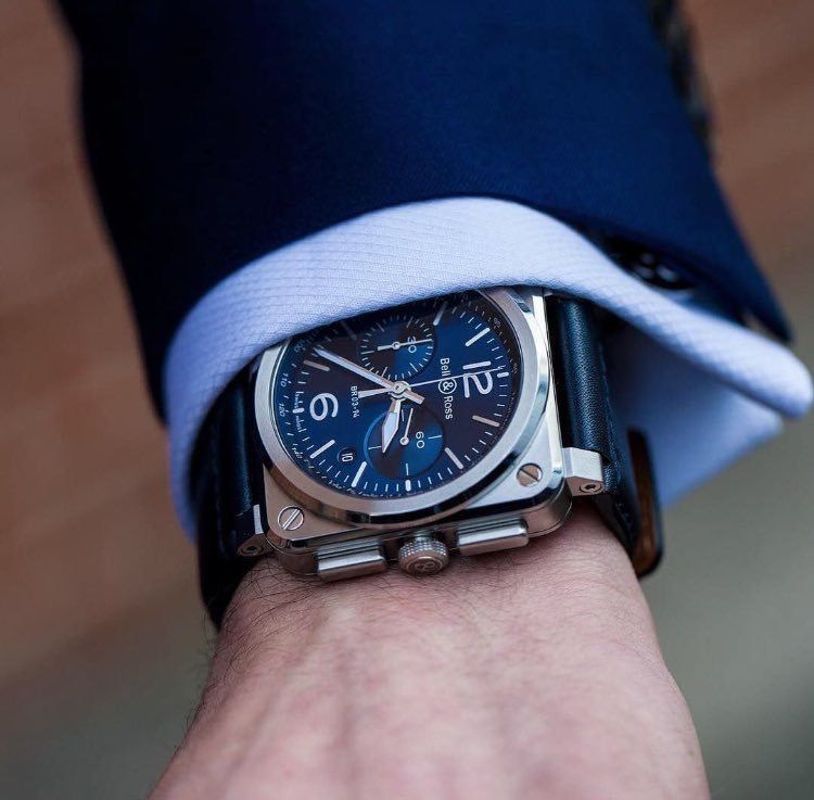 34c10d848 Bell & Ross Blue Steel | Horology | Bell ross, Wood watch, Watches