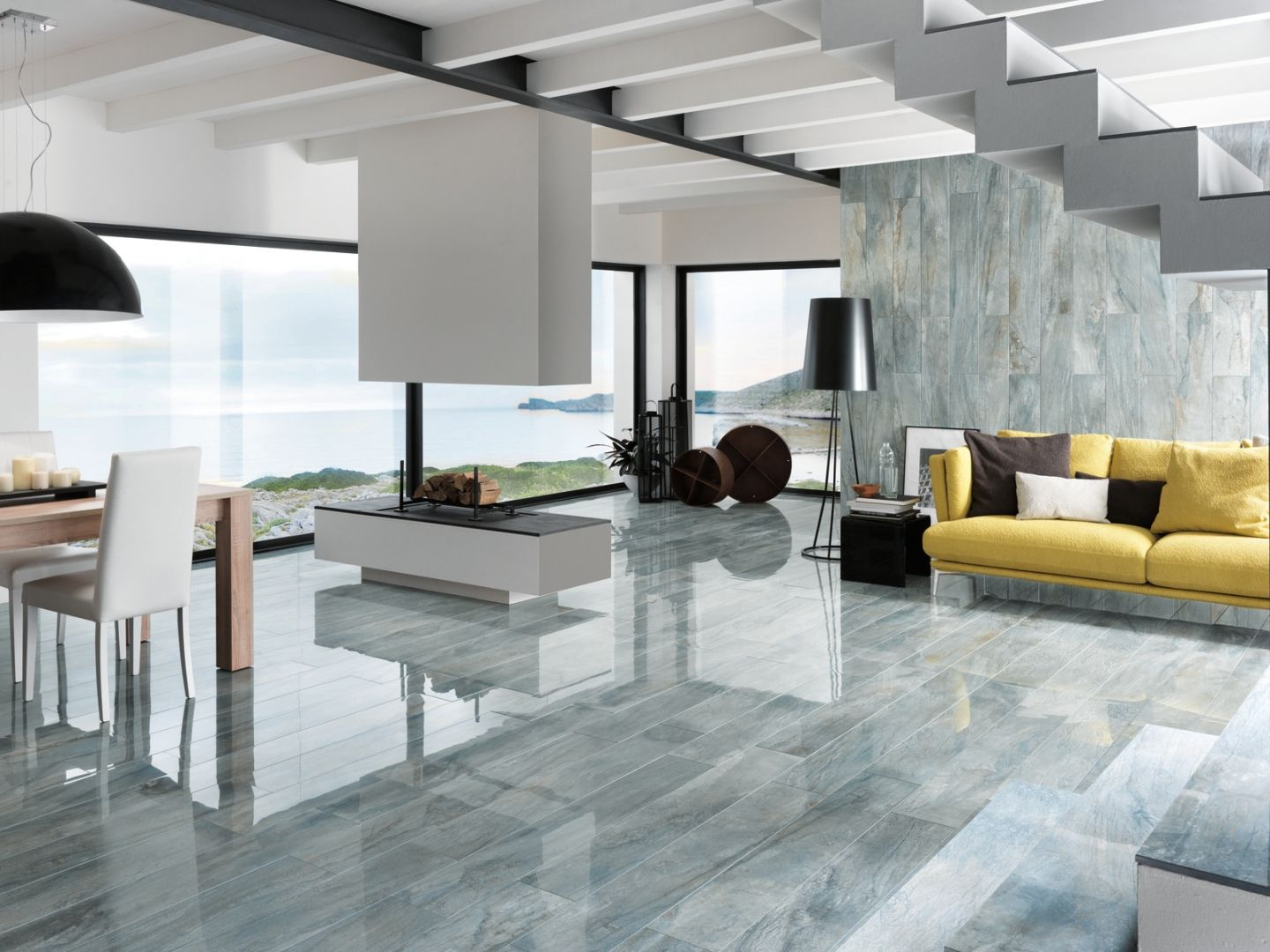 Aged Porcelain Tiles Gloss Grey Italian Tile And Stone Dublin