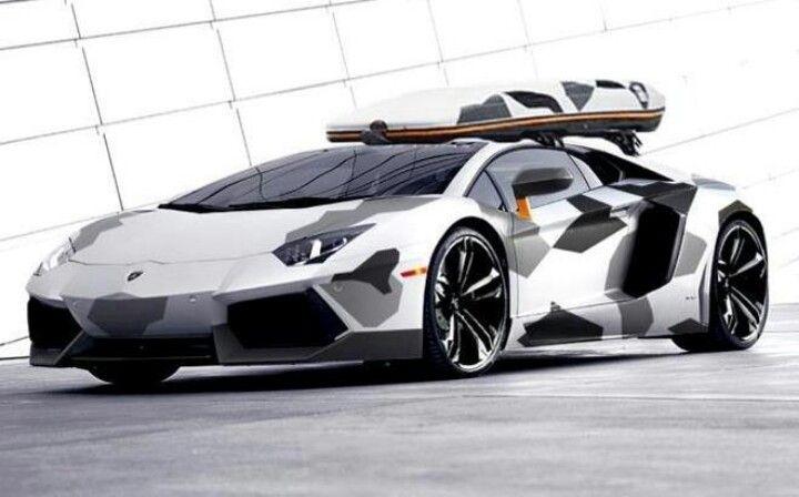 Snow Camo Lambo Lamborghini Lamborghini Aventador Lamborghini