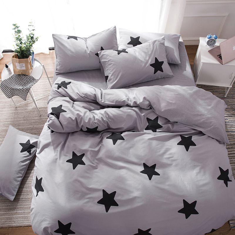 Grey Bed Linens Flat Sheet King Size Sheet Sets Cotton King Bed Cover Stars Duvet Cover Set Cotton Bed Cove Bed Linens Luxury Bed Sheets Sale Luxury Bed Sheets King sheet sets on sale