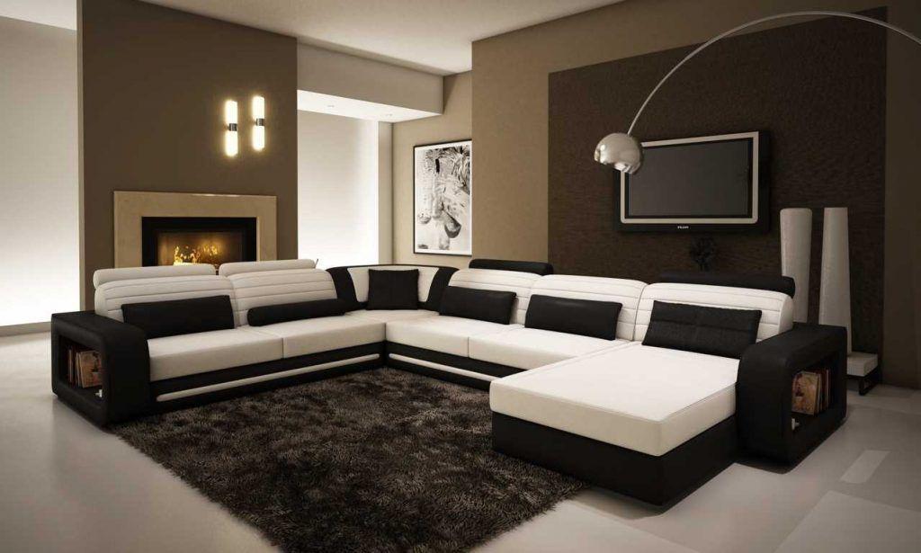Model Sofa Ruang Tamu Hitam Putih Ruang Keluarga Minimalis