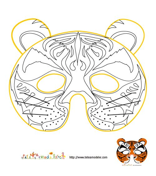 Masque carnaval coloriage hibou enfant fabrication masques - Masque de princesse a colorier ...