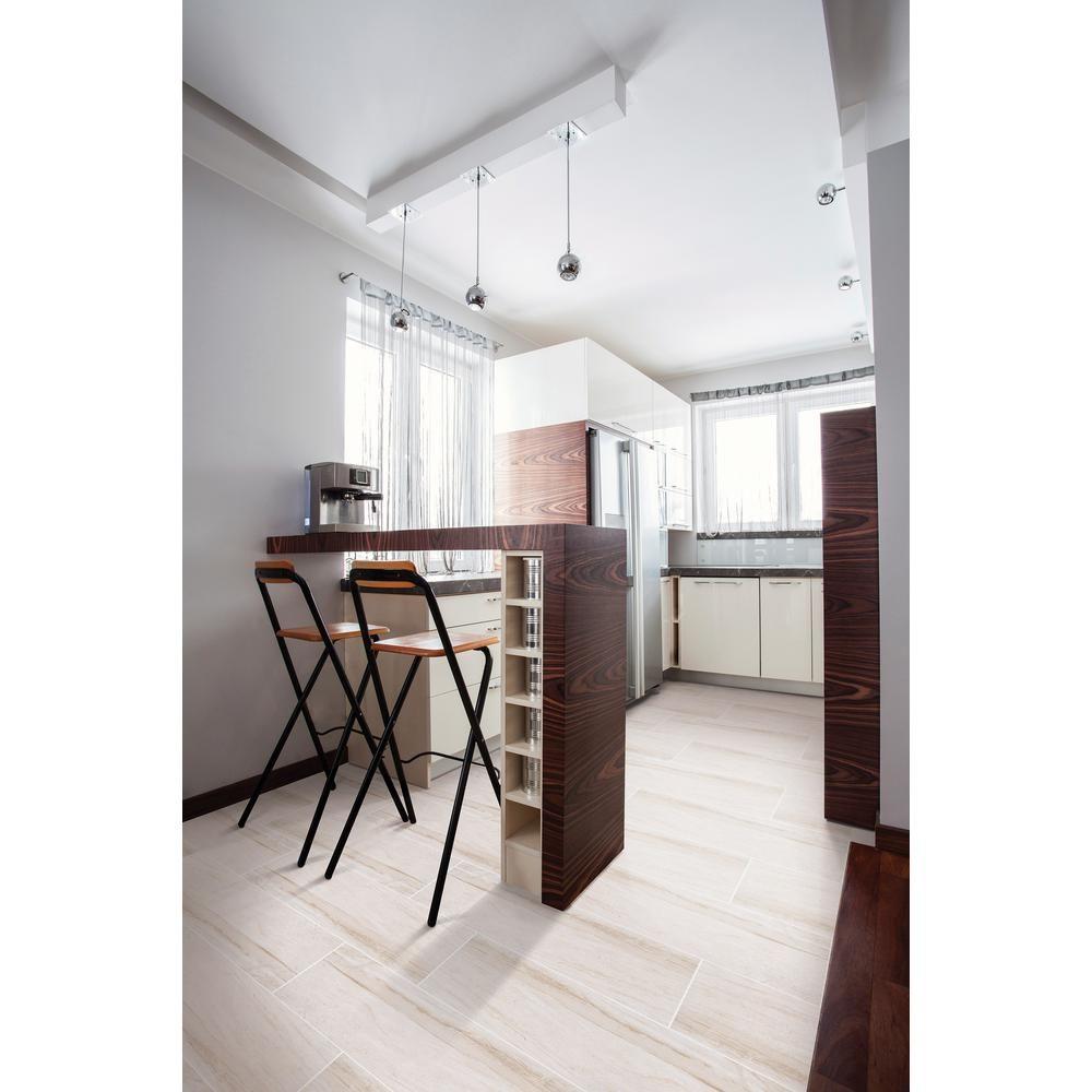 Atrium Kios Gris Glazed Porcelain Floor Tile: MSI Vigo Gris 12 In. X 24 In. Glazed Ceramic Floor And
