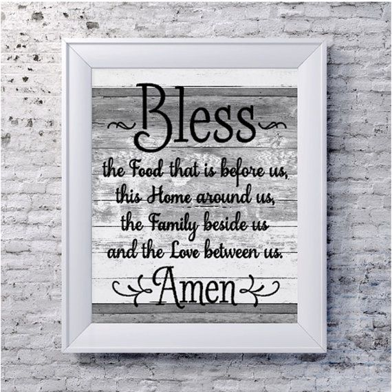 Kitchen Decor Bless the food Before Us Printable by VinylDezignz, $6.95