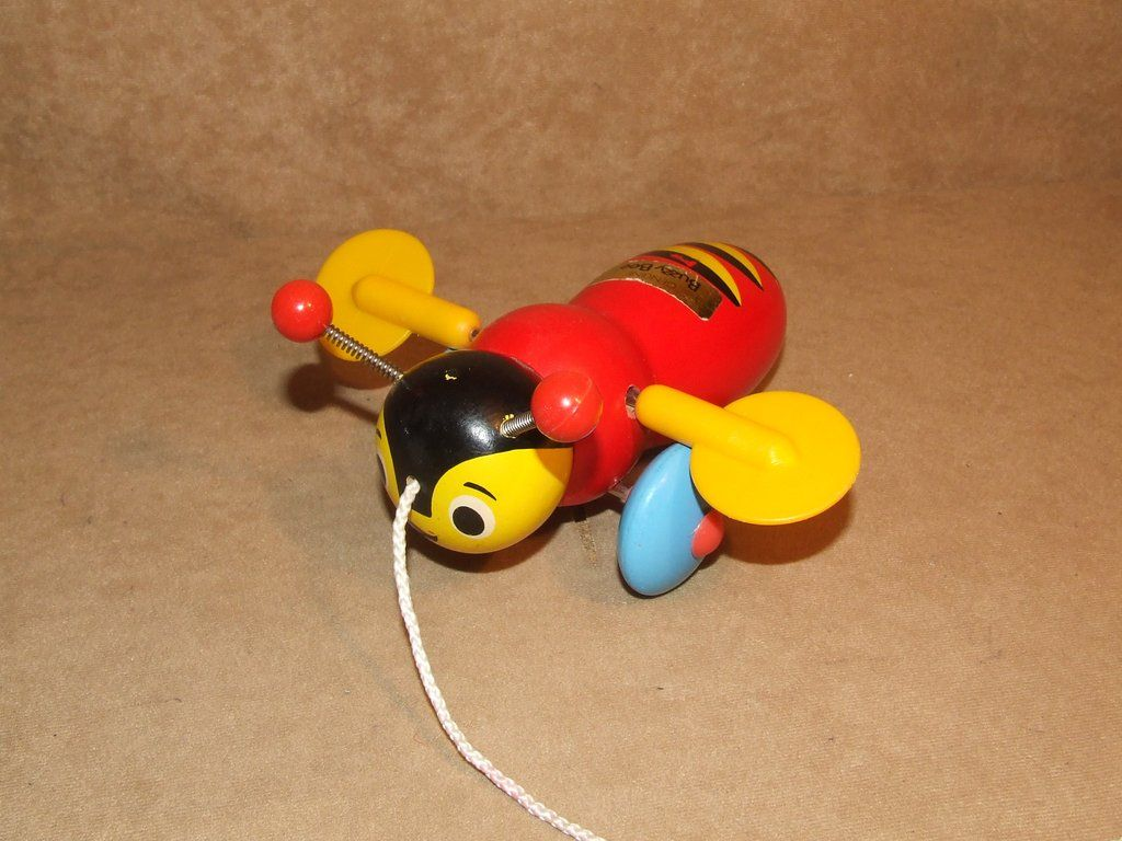 Genuine Buzzy Bee Wooden Pull Along Toy | Push/Pull Toys | Pinterest