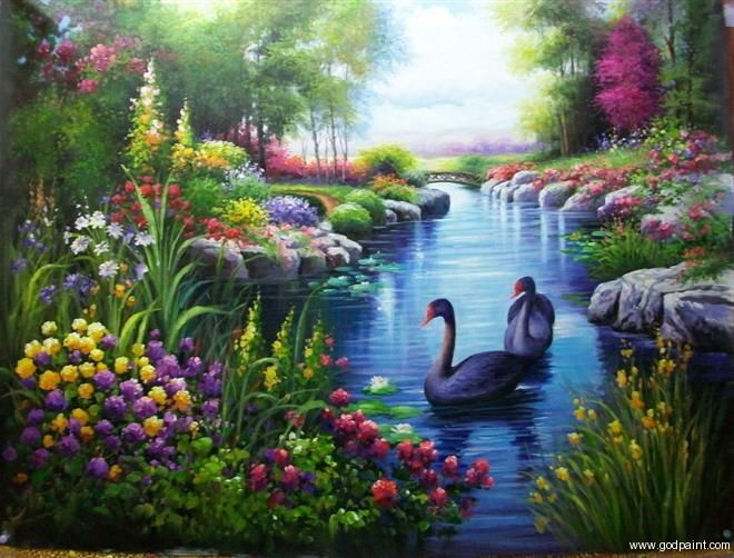 Land Sea Nature Oil Painting Nature Paintings Landscape Paintings Oil Painting Landscape