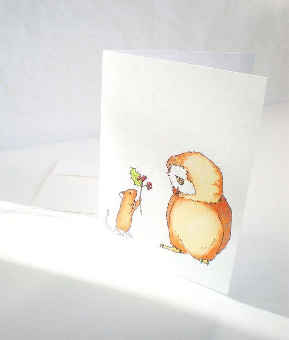 Black Friday Etsy Sale 25OFF Cute Christmas card by ABunnyandBear