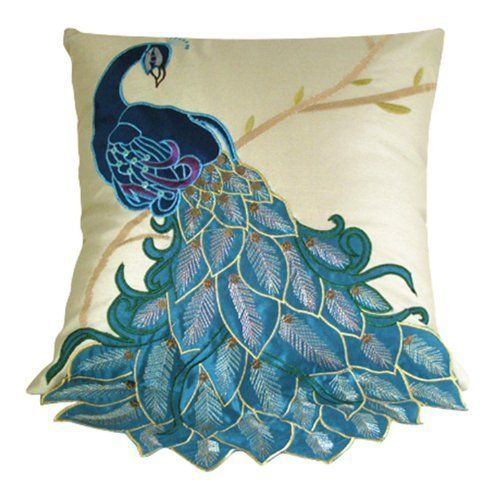 for cushion covers pillowcase pillow item decoration cover feather peacock home sofa animal case