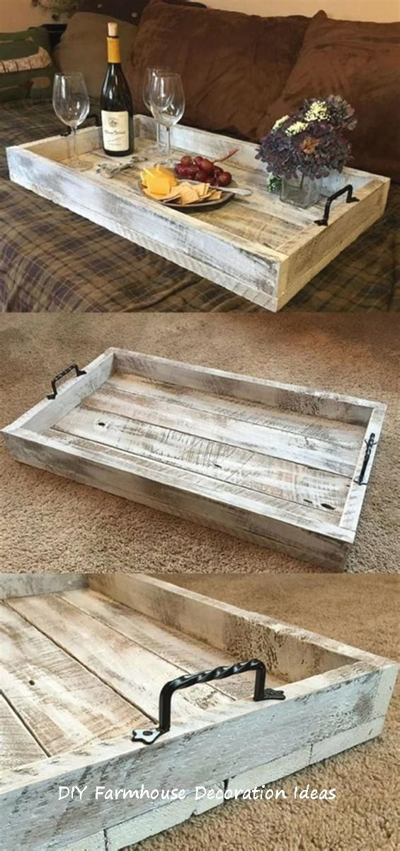 10 Easy DIY Wooden Craft Ideas | Tray decor, Rustic