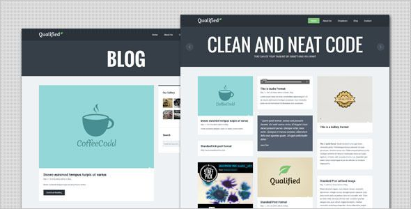 Qualified - Blog and Portfolio WordPress Theme | Wordpress Blogging ...