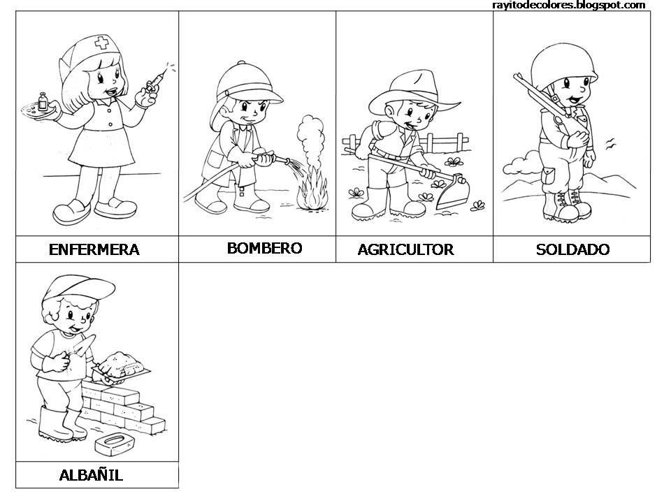 Profesiones Y Oficios 1 Jpg 960 720 Community Helpers Worksheets Pre Kinder Social Science