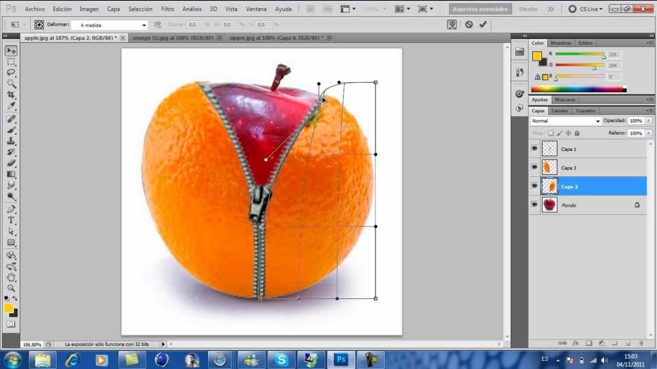 Photoshop Cs5 Crear Una Fotomanipulacion De Una Manzana Photoshop Tutorial Photoshop Photo Manipulation