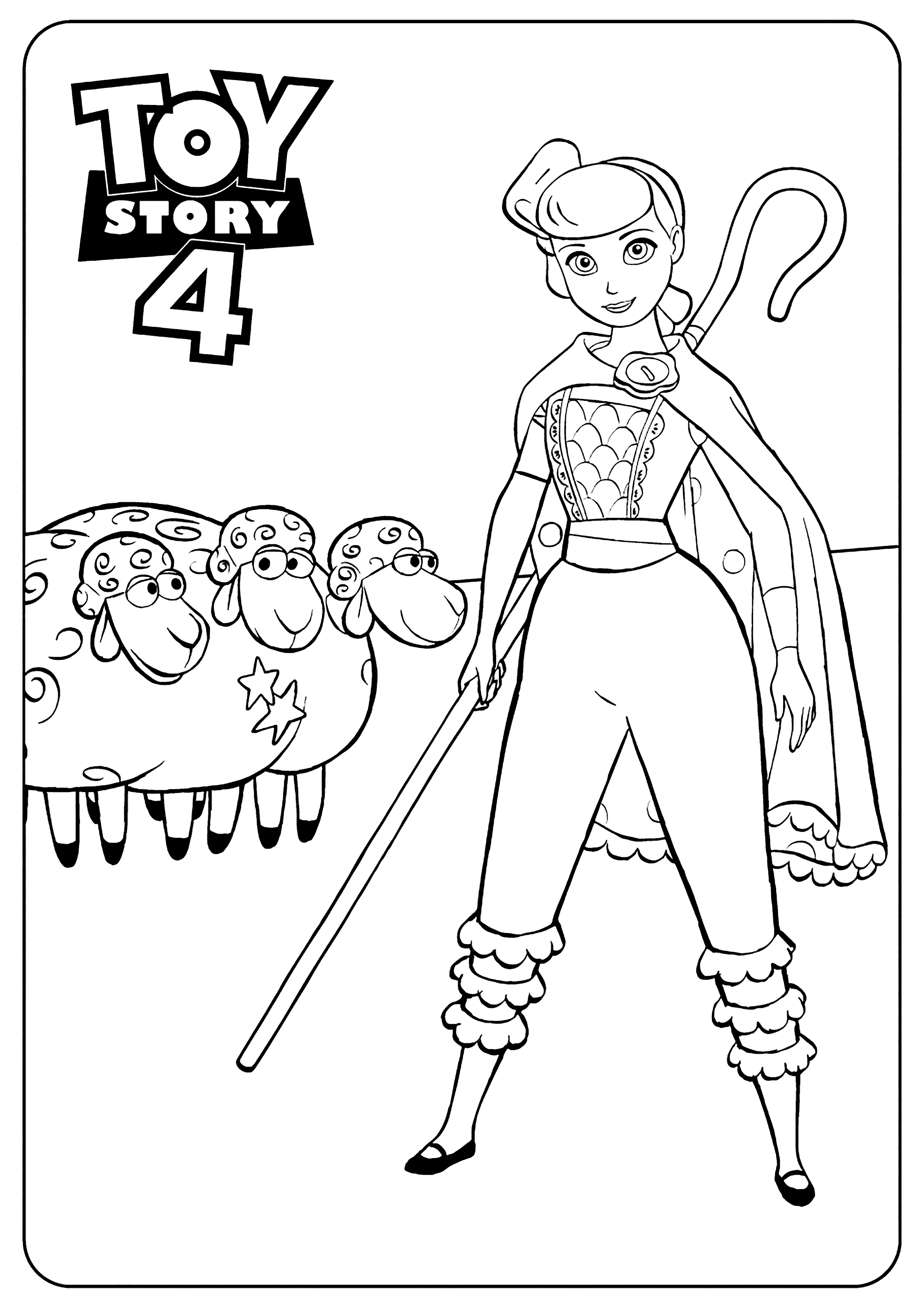 Bo Peep Coloring Pages Best Coloring Pages For Kids Toy Story Coloring Pages Disney Coloring Pages Toy Story Printables