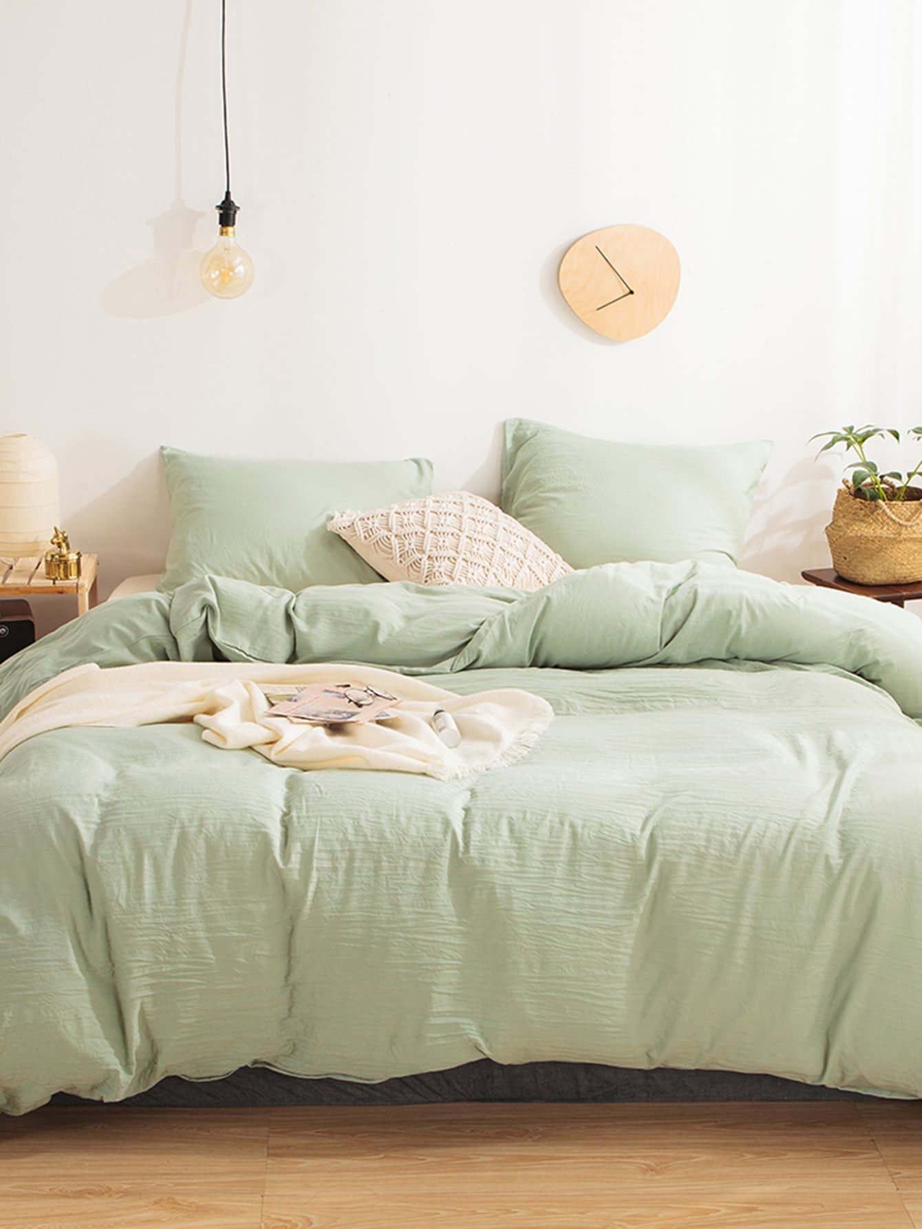 solid bedding set without filler  shein usa in 2020