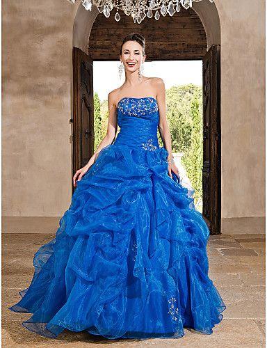 vestidos de 15 años azul cielo