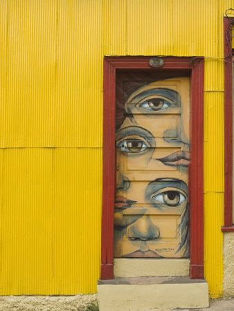 Valparaiso, Chile, South America  There is street art everywhere, amazing!
