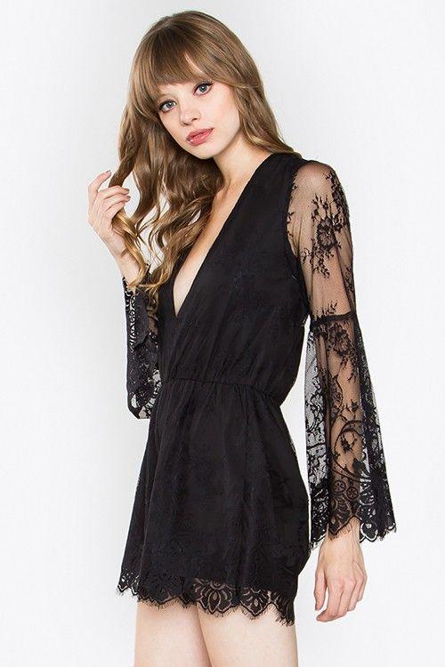 Long sleeve scallop mock neck lace bodysuit-id.cc51853-P1188