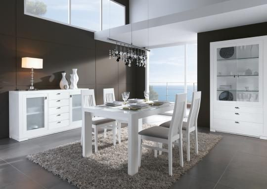 Comedor elegante en color blanco | Esszimmer | Pinterest | Comedor ...