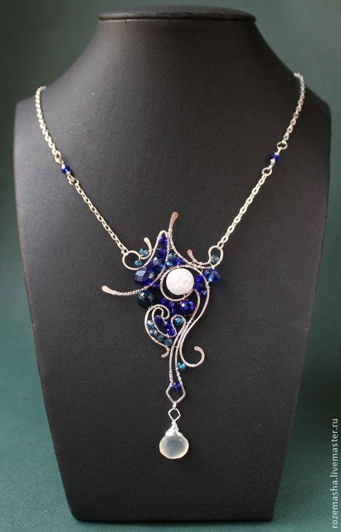 Кулон Призрак Нежный ( фиолетовый вариант) - серебряный,комплект,подарок